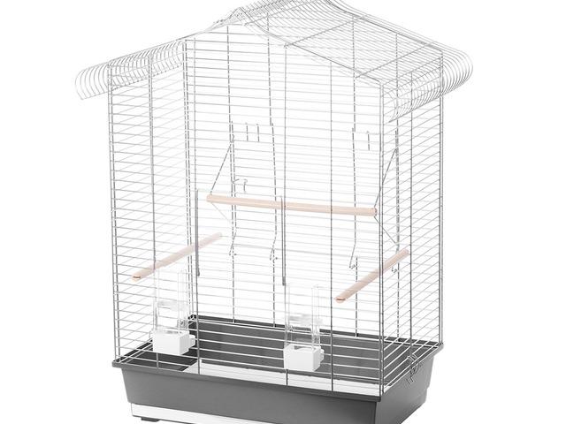 Vogelkooi In Huis : Vogelkooi iza grijs zwart